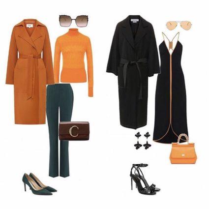 Стильные образы на каждый день и вечер от стилиста Елена Фрассони, оранжевый и зеленый  цвета в одежде на осень зиму 2019-2020, с чем носить